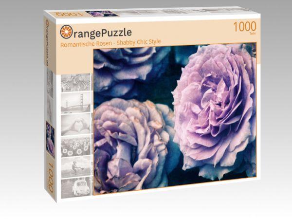 """Puzzle Motiv """"Romantische Rosen - Shabby Chic Style"""" - Puzzle-Schachtel zu 1000 Teile Puzzle"""