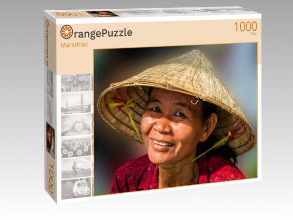 """Puzzle Motiv """"Marktfrau"""" - Puzzle-Schachtel zu 1000 Teile Puzzle"""