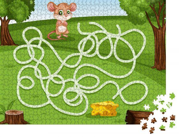 """Puzzle-Motiv """"Labyrinthspiel Hilf der kleinen Maus, den Käse reich zu machen"""" - Puzzle-Teile zu 1000 Teile Puzzle"""