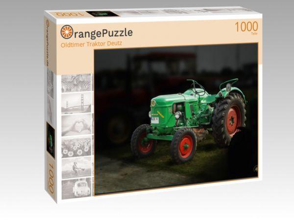 "Puzzle Motiv ""Oldtimer Traktor Deutz"" - Puzzle-Schachtel zu 1000 Teile Puzzle"