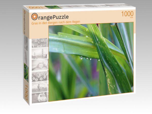 """Puzzle Motiv """"Gras in den Bergen nach dem Regen"""" - Puzzle-Schachtel zu 1000 Teile Puzzle"""