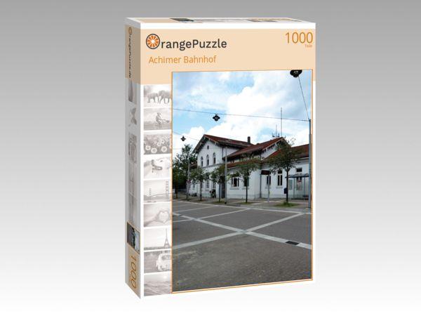 """Puzzle Motiv """"Achimer Bahnhof"""" - Puzzle-Schachtel zu 1000 Teile Puzzle"""