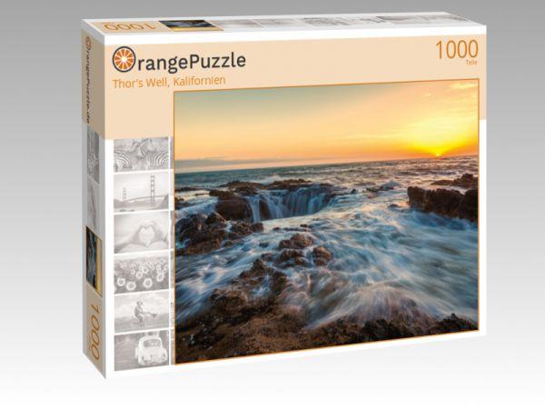 "Puzzle Motiv ""Thor's Well, Kalifornien"" - Puzzle-Schachtel zu 1000 Teile Puzzle"