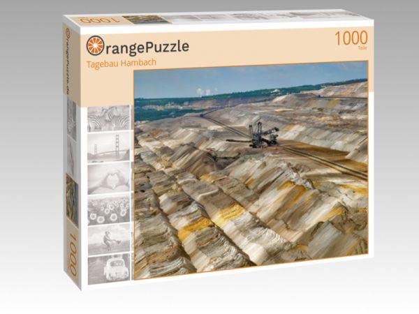 "Puzzle Motiv ""Tagebau Hambach"" - Puzzle-Schachtel zu 1000 Teile Puzzle"
