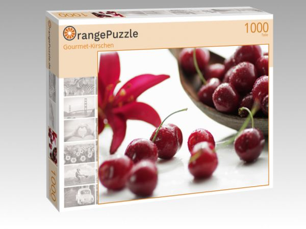 "Puzzle Motiv ""Gourmet-Kirschen"" - Puzzle-Schachtel zu 1000 Teile Puzzle"