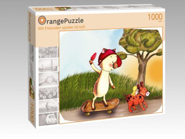 """Puzzle Motiv """"Mit Freunden spielen ist toll!"""" - Puzzle-Schachtel zu 1000 Teile Puzzle"""
