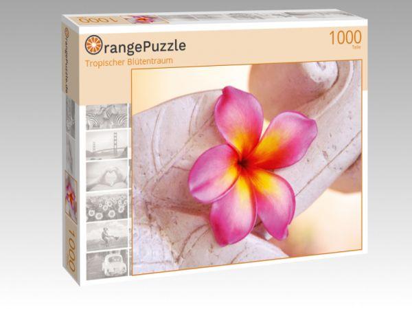 """Puzzle Motiv """"Tropischer Blütentraum"""" - Puzzle-Schachtel zu 1000 Teile Puzzle"""