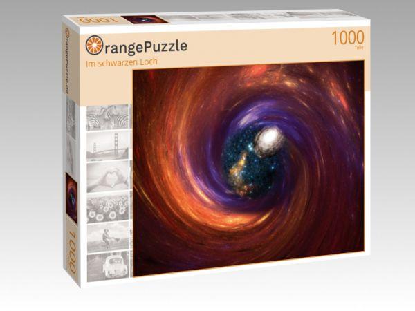 """Puzzle Motiv """"Im schwarzen Loch"""" - Puzzle-Schachtel zu 1000 Teile Puzzle"""