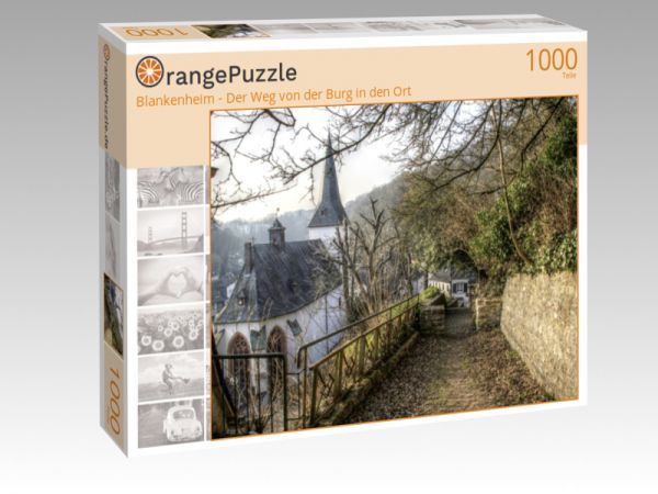 """Puzzle Motiv """"Blankenheim - Der Weg von der Burg in den Ort"""" - Puzzle-Schachtel zu 1000 Teile Puzzle"""
