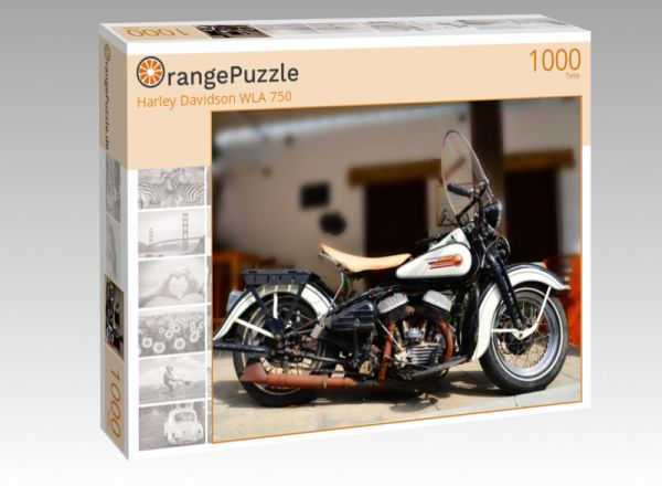"Puzzle Motiv ""Harley Davidson WLA 750"" - Puzzle-Schachtel zu 1000 Teile Puzzle"