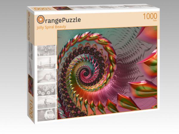 """Puzzle Motiv """"Jolly Spiral Beauty"""" - Puzzle-Schachtel zu 1000 Teile Puzzle"""