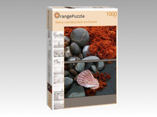 """Puzzle Motiv """"Steine und Muscheln am Strand"""" - Puzzle-Schachtel zu 1000 Teile Puzzle"""