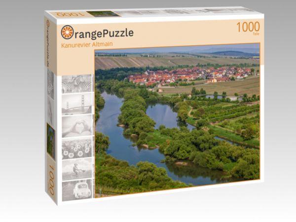 """Puzzle Motiv """"Kanurevier Altmain"""" - Puzzle-Schachtel zu 1000 Teile Puzzle"""