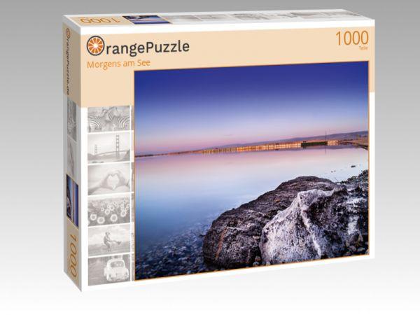 """Puzzle Motiv """"Morgens am See"""" - Puzzle-Schachtel zu 1000 Teile Puzzle"""