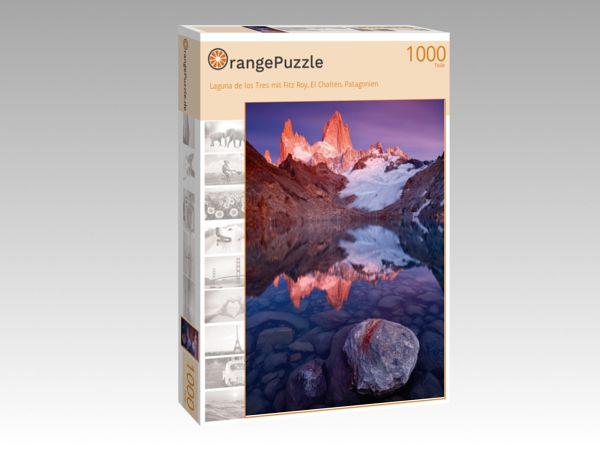 """Puzzle Motiv """"Laguna de los Tres mit Fitz Roy, El Chaltén, Patagonien"""" - Puzzle-Schachtel zu 1000 Teile Puzzle"""