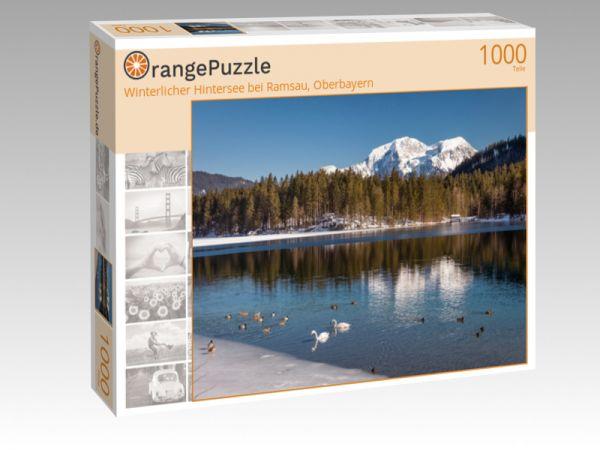 """Puzzle Motiv """"Winterlicher Hintersee bei Ramsau, Oberbayern"""" - Puzzle-Schachtel zu 1000 Teile Puzzle"""