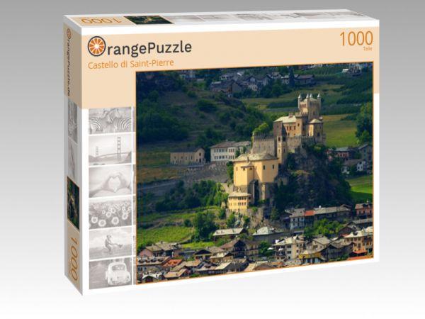 """Puzzle Motiv """"Castello di Saint-Pierre"""" - Puzzle-Schachtel zu 1000 Teile Puzzle"""