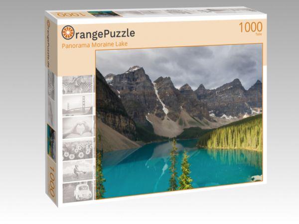 "Puzzle Motiv ""Panorama Moraine Lake"" - Puzzle-Schachtel zu 1000 Teile Puzzle"