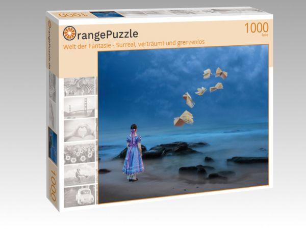 """Puzzle Motiv """"Welt der Fantasie - Surreal, verträumt und grenzenlos"""" - Puzzle-Schachtel zu 1000 Teile Puzzle"""