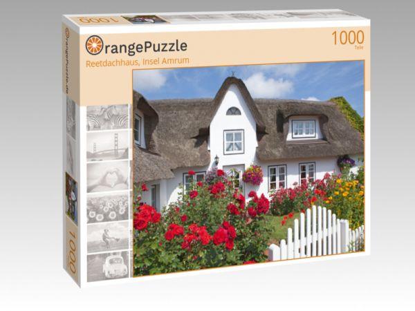 "Puzzle Motiv ""Reetdachhaus, Insel Amrum"" - Puzzle-Schachtel zu 1000 Teile Puzzle"
