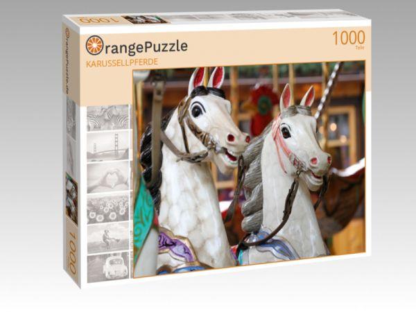 """Puzzle Motiv """"KARUSSELLPFERDE"""" - Puzzle-Schachtel zu 1000 Teile Puzzle"""