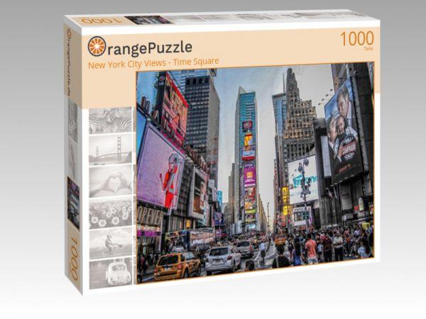 """Puzzle Motiv """"New York City Views - Time Square"""" - Puzzle-Schachtel zu 1000 Teile Puzzle"""