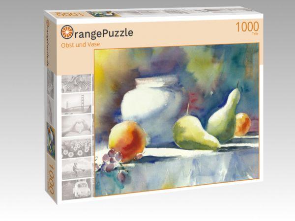 """Puzzle Motiv """"Obst und Vase"""" - Puzzle-Schachtel zu 1000 Teile Puzzle"""