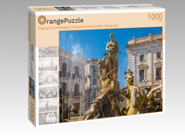 """Puzzle Motiv """"Piazza Archimedes mit Artemisbrunnen, Syracusa"""" - Puzzle-Schachtel zu 1000 Teile Puzzle"""