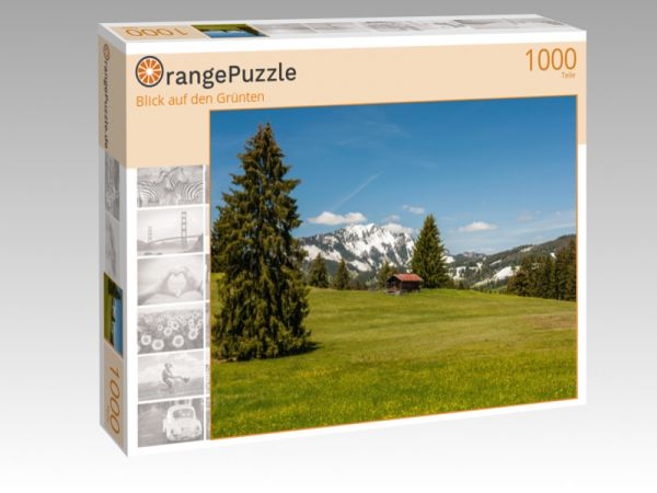 "Puzzle Motiv ""Blick auf den Grünten"" - Puzzle-Schachtel zu 1000 Teile Puzzle"