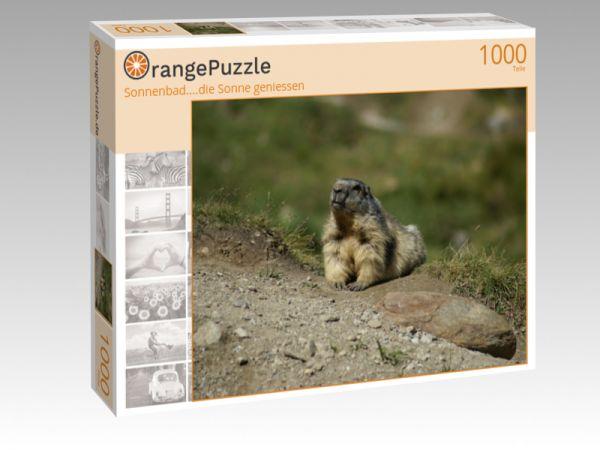 """Puzzle Motiv """"Sonnenbad....die Sonne geniessen"""" - Puzzle-Schachtel zu 1000 Teile Puzzle"""