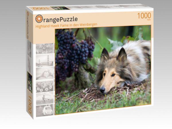 """Puzzle Motiv """"Highland Hawk Fame in den Weinbergen"""" - Puzzle-Schachtel zu 1000 Teile Puzzle"""