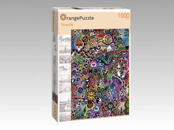 """Puzzle Motiv """"Doodle"""" - Puzzle-Schachtel zu 1000 Teile Puzzle"""