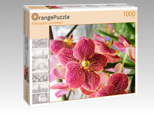 """Puzzle Motiv """"Farbzauber Orchideen"""" - Puzzle-Schachtel zu 1000 Teile Puzzle"""