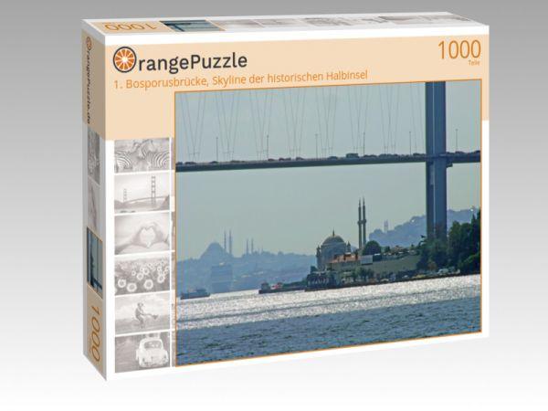 """Puzzle Motiv """"1. Bosporusbrücke, Skyline der historischen Halbinsel"""" - Puzzle-Schachtel zu 1000 Teile Puzzle"""