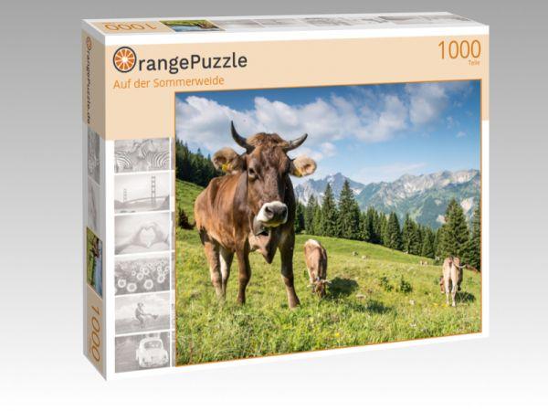 """Puzzle Motiv """"Auf der Sommerweide"""" - Puzzle-Schachtel zu 1000 Teile Puzzle"""