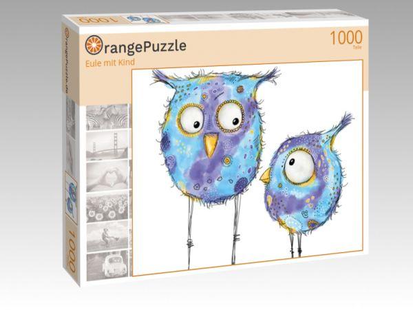 """Puzzle Motiv """"Eule mit Kind"""" - Puzzle-Schachtel zu 1000 Teile Puzzle"""