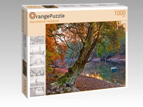 """Puzzle Motiv """"Mannheimer Waldpark"""" - Puzzle-Schachtel zu 1000 Teile Puzzle"""