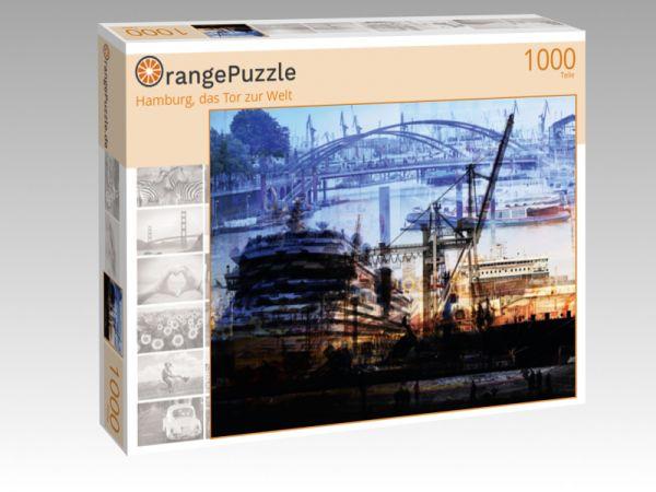 """Puzzle Motiv """"Hamburg, das Tor zur Welt"""" - Puzzle-Schachtel zu 1000 Teile Puzzle"""