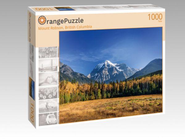"Puzzle Motiv ""Mount Robson, British Columbia"" - Puzzle-Schachtel zu 1000 Teile Puzzle"