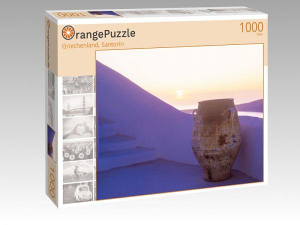 """Puzzle Motiv """"Griechenland, Santorin"""" - Puzzle-Schachtel zu 1000 Teile Puzzle"""