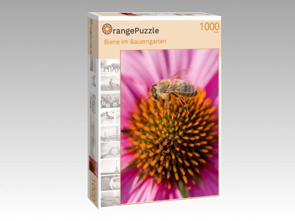 """Puzzle Motiv """"Biene im Bauerngarten"""" - Puzzle-Schachtel zu 1000 Teile Puzzle"""