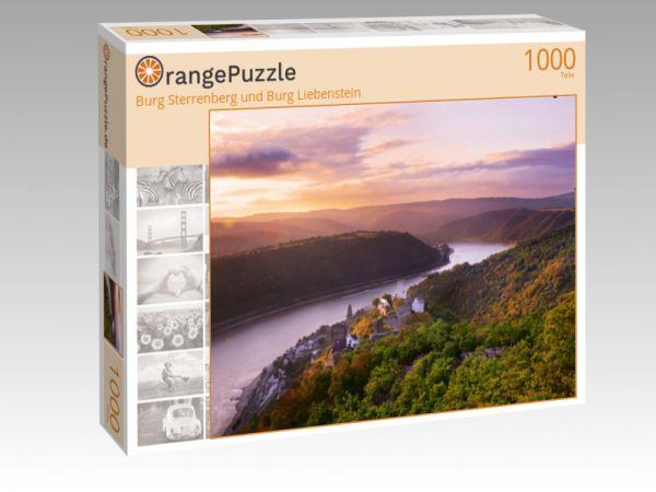 """Puzzle Motiv """"Burg Sterrenberg und Burg Liebenstein"""" - Puzzle-Schachtel zu 1000 Teile Puzzle"""
