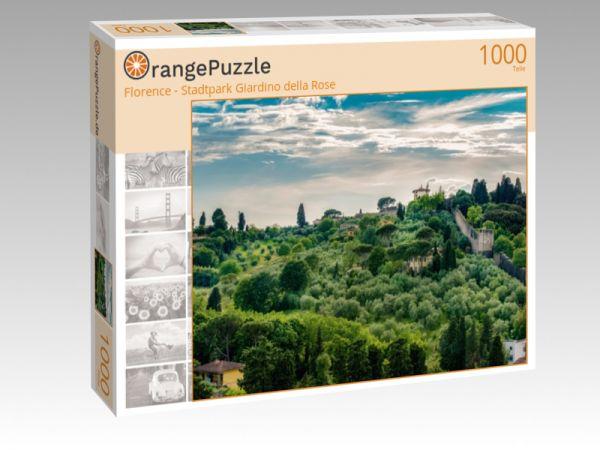 """Puzzle Motiv """"Florence - Stadtpark Giardino della Rose"""" - Puzzle-Schachtel zu 1000 Teile Puzzle"""