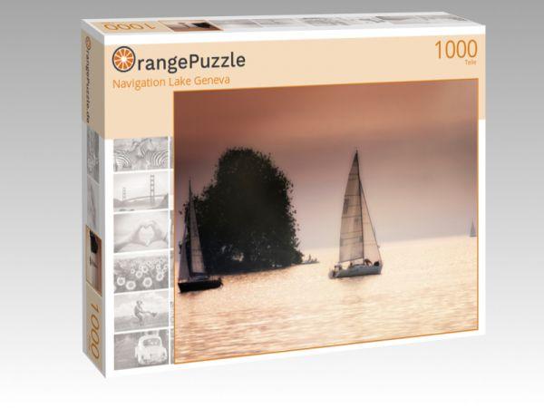 """Puzzle Motiv """"Navigation Lake Geneva"""" - Puzzle-Schachtel zu 1000 Teile Puzzle"""