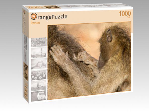 """Puzzle Motiv """"Pavian"""" - Puzzle-Schachtel zu 1000 Teile Puzzle"""
