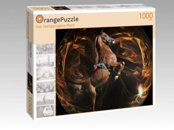 """Puzzle Motiv """"Das hochgezogene Pferd"""" - Puzzle-Schachtel zu 1000 Teile Puzzle"""