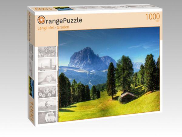 "Puzzle Motiv ""Langkofel - Gröden"" - Puzzle-Schachtel zu 1000 Teile Puzzle"