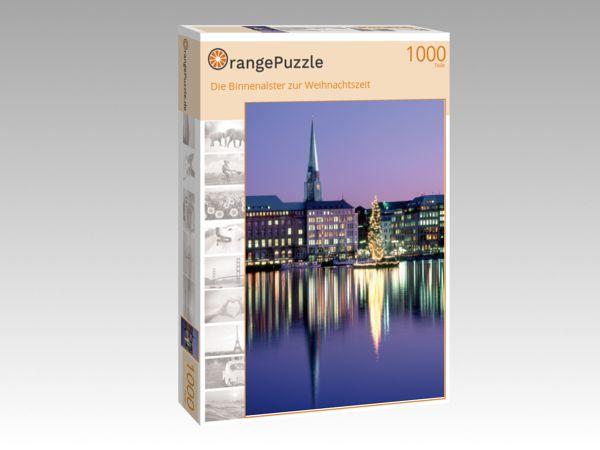 """Puzzle Motiv """"Die Binnenalster zur Weihnachtszeit"""" - Puzzle-Schachtel zu 1000 Teile Puzzle"""