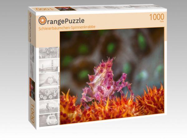 """Puzzle Motiv """"Schleierbäumchen-Spinnenkrabbe"""" - Puzzle-Schachtel zu 1000 Teile Puzzle"""