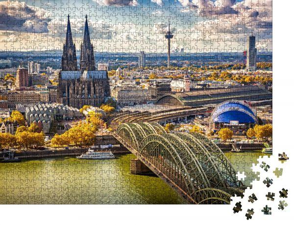 """Puzzle-Motiv """"Luftaufnahme von Köln, Deutschland"""" - Puzzle-Teile zu 1000 Teile Puzzle"""